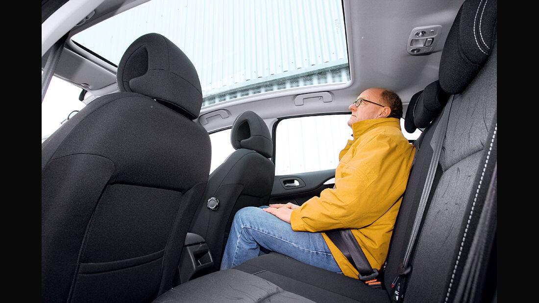 Citroen C4 Vti 120, Rücksitze, Panoramaglasdach