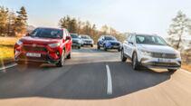 Citroen C5 Aircross, Mitsubishi Outlander, Toyota RAV4, Volvo XC40, VW Tiguan, Exterieur