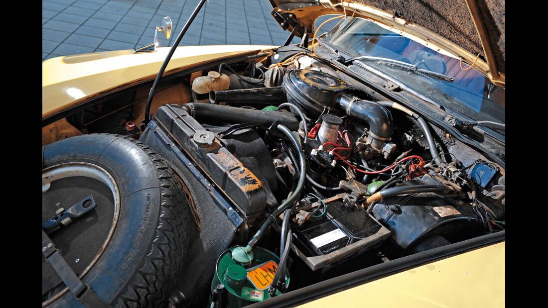 Citroen DS 21, Motorraum, Detail