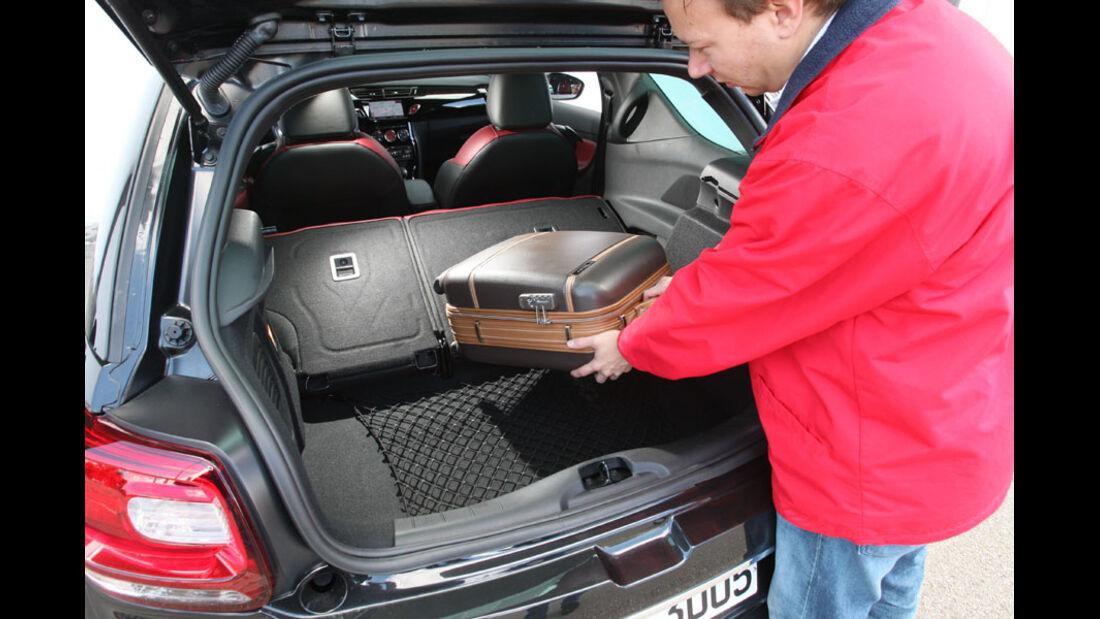 Citroen DS3, Kofferraum