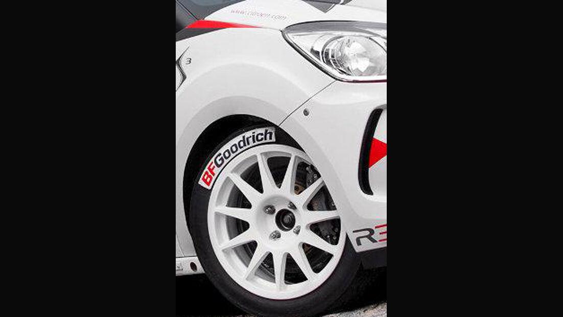 Citroen DS3 R3, Rallyeauto, Front, Felge
