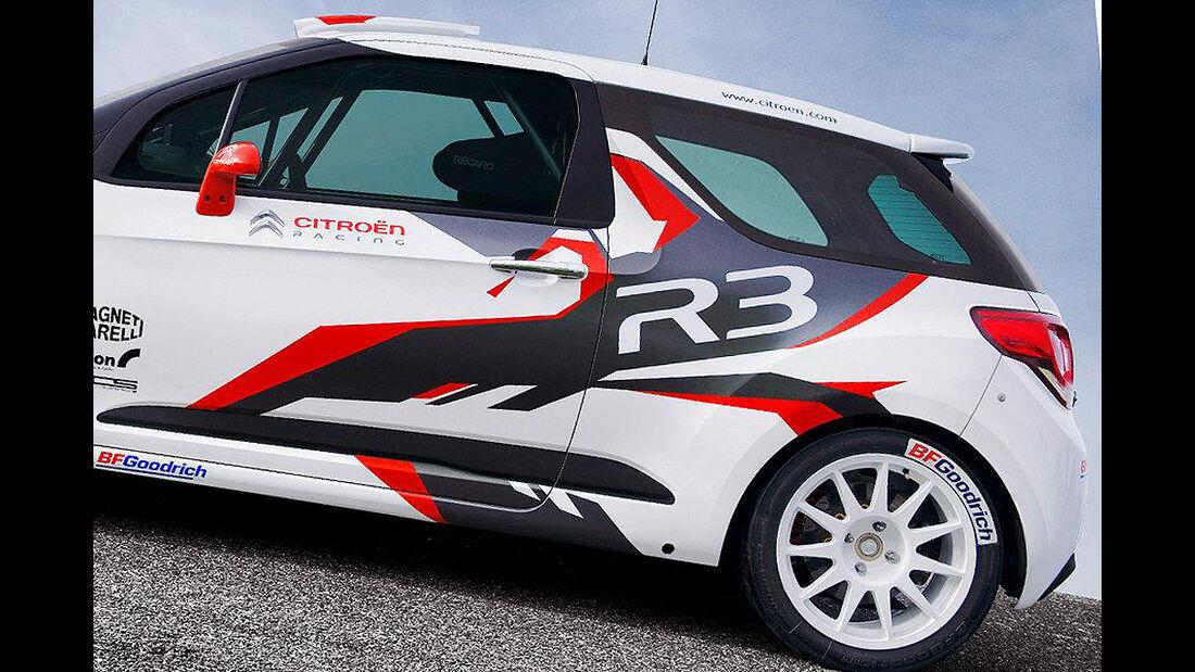 Citroen DS3 R3, Rallyeauto, Heck