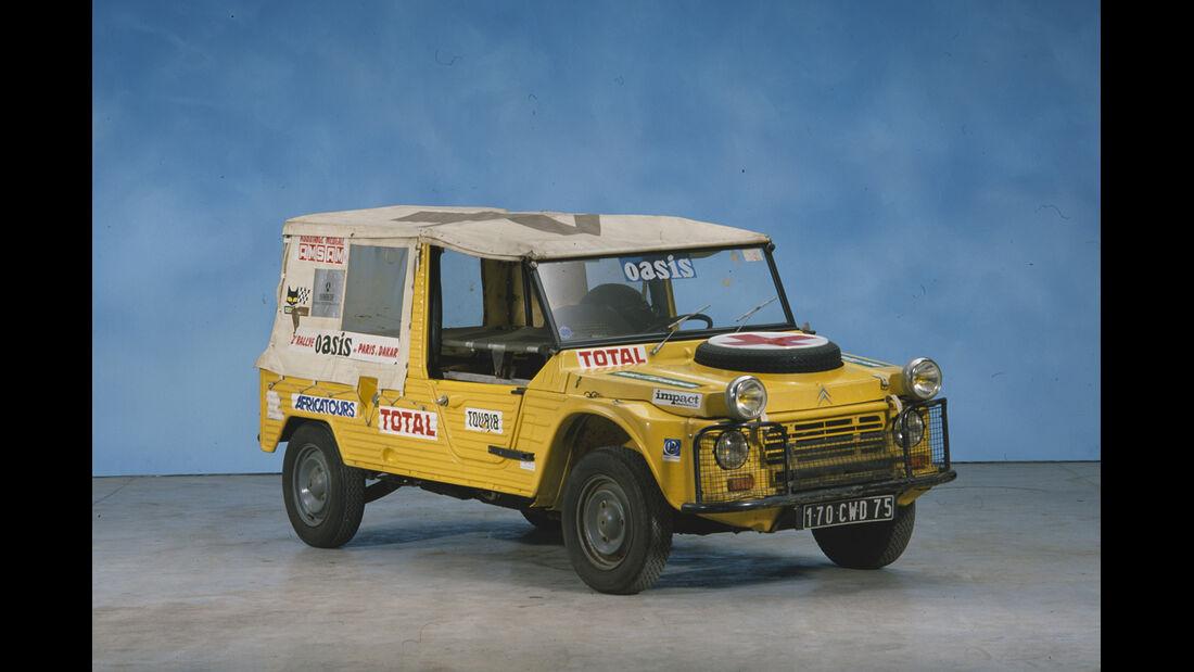 Citroen Mehari als Begleitfahrzeug Paris-Dakar