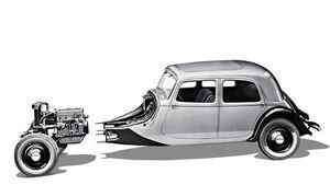 Citroen Traction Avant, Doppel-Querachse