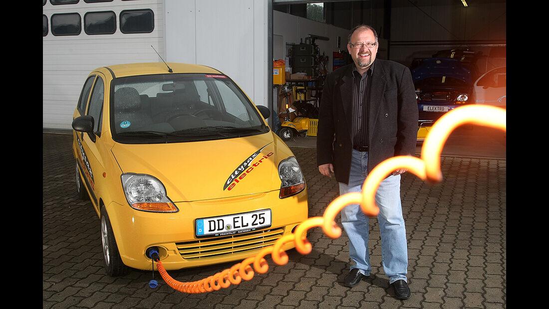 Citysax Elektroauto, Chevrolet Matiz, E-Auto, Ladekabel