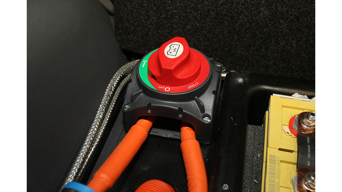 Citysax Elektroauto, E-Auto, Elektroantrieb, Batterieschalter