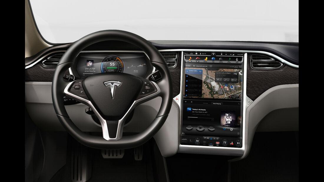 Cockpit Tesla-Motors-Limousine Model S 2012