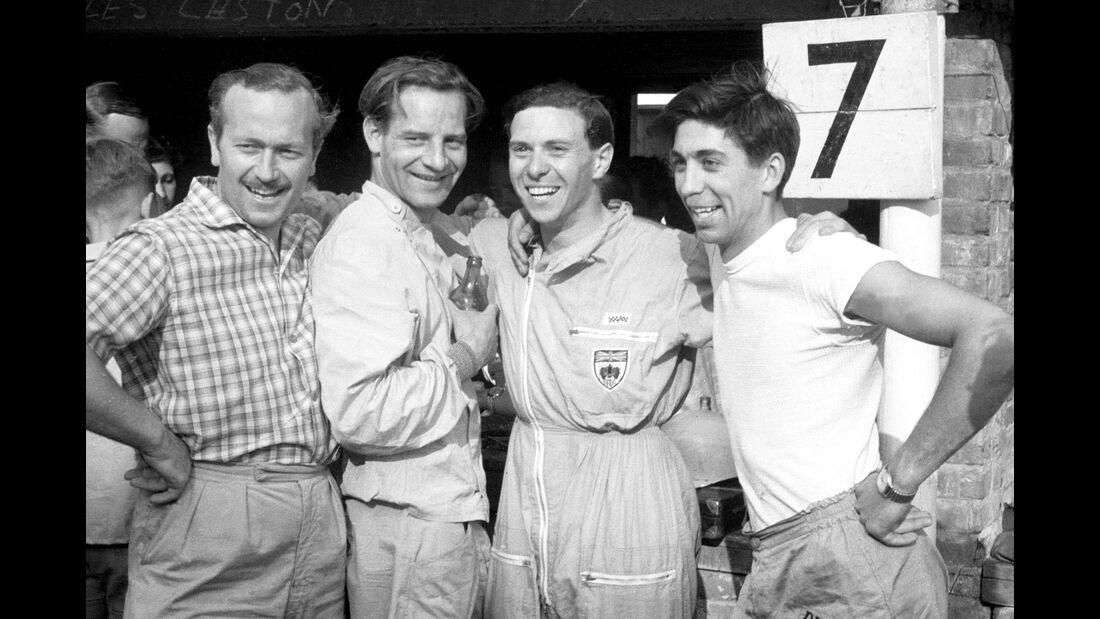 Colin Chapman - Innes Ireland - Jim Clark - Alan Stacey - Lotus - GP Niederlande 1960 - Zandvoort