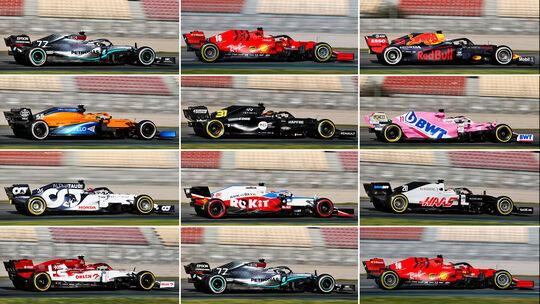 Collage - F1-Autos 2020