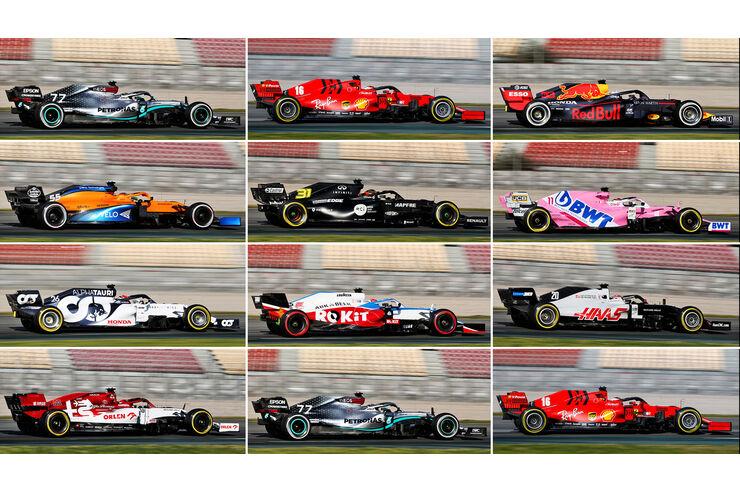 Alle F1 Autos 2020 Im Uberblick Wer Hat Das Beste Gesamtkonzept Auto Motor Und Sport