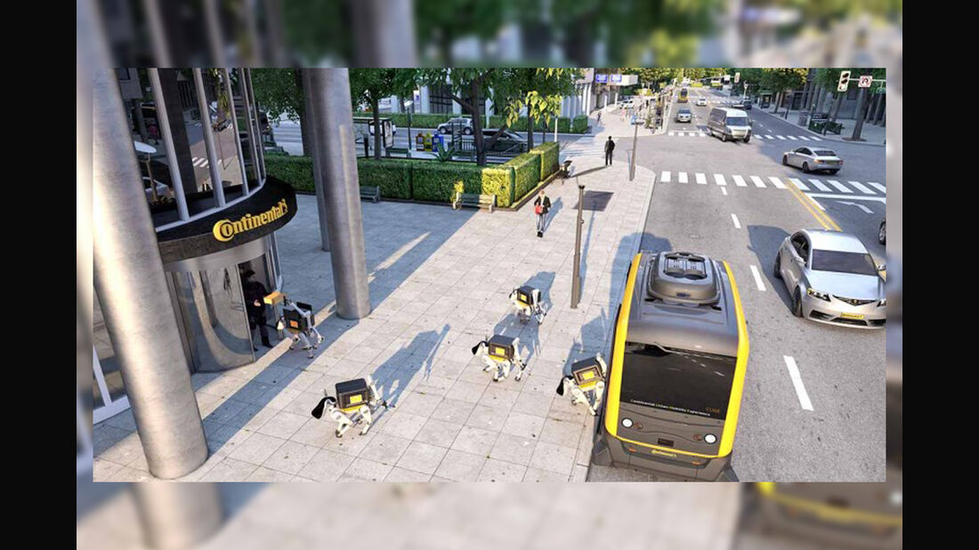 Continental Roboter Hund Lieferverkehr
