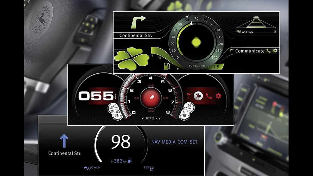 Continental Versuchsträger VW Passat Display
