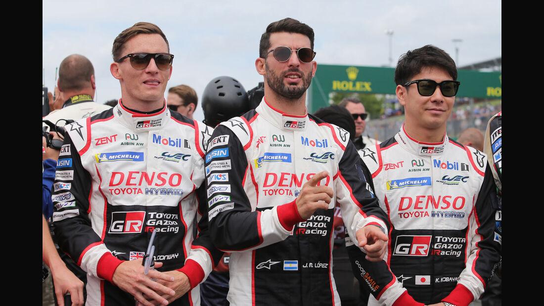 Conway - Lopez - Kobayashi - Toyota - 24h-Rennen Le Mans 2018 - Samstag - 16.6.2018