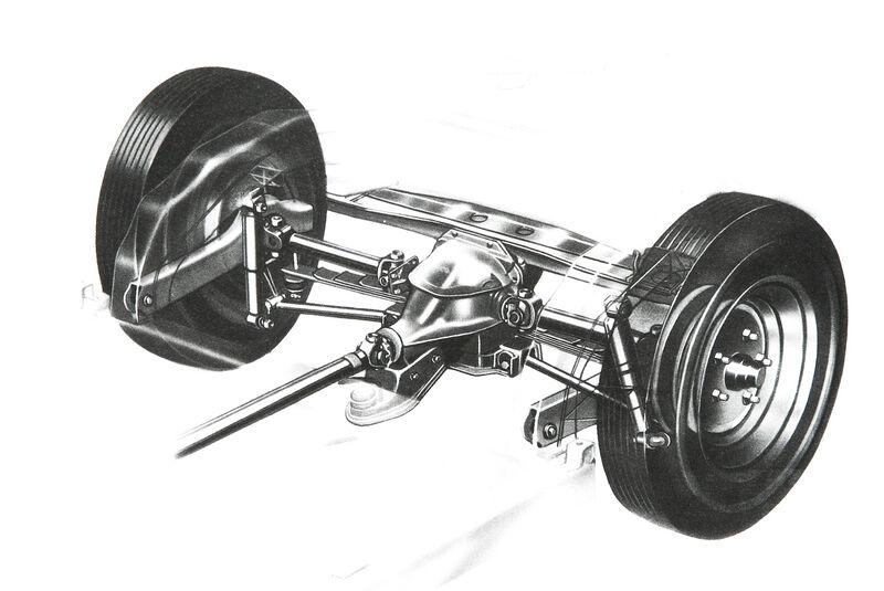 Corvette C1-C3, Hinterachse