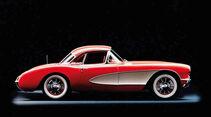 Corvette C1, Seitenansicht, 1956