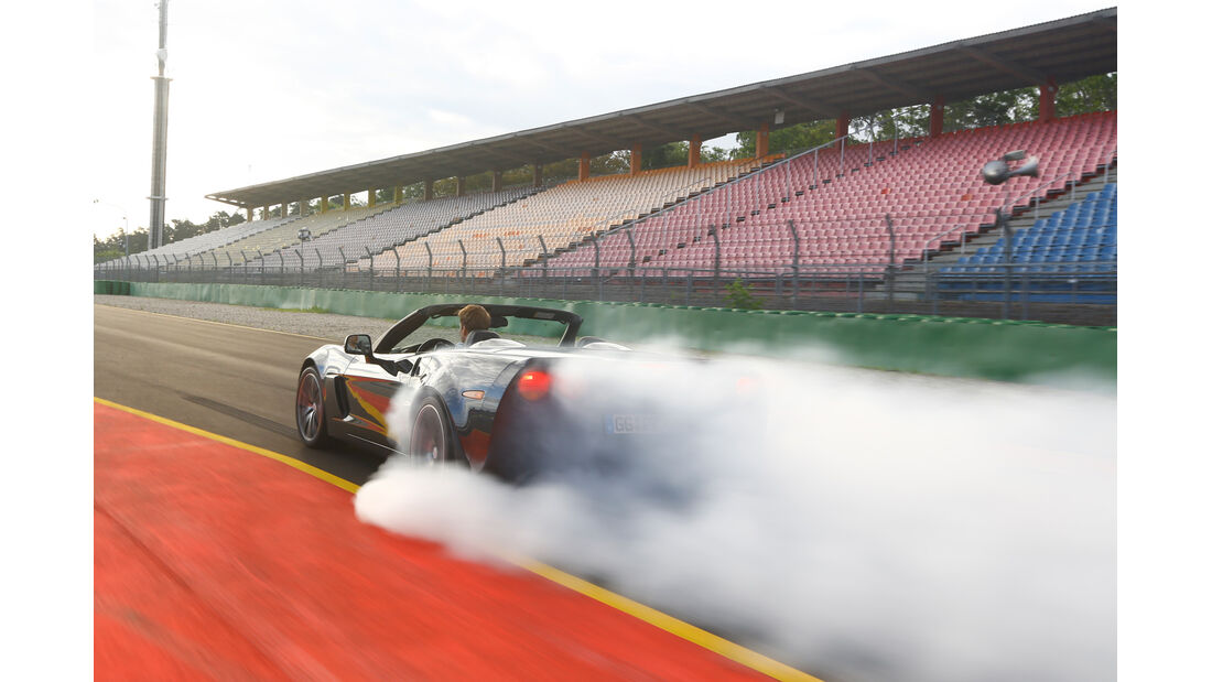 Corvette C6, Hockenheim, Burnout