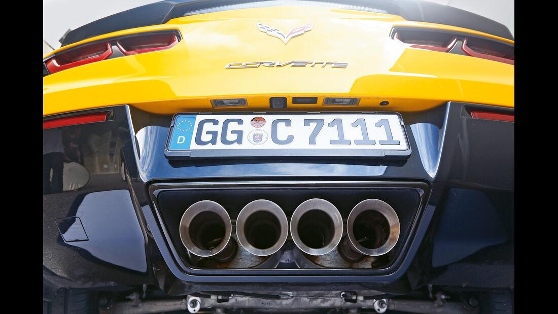 Corvette C7 Stingray, Endrohre, Auspuff