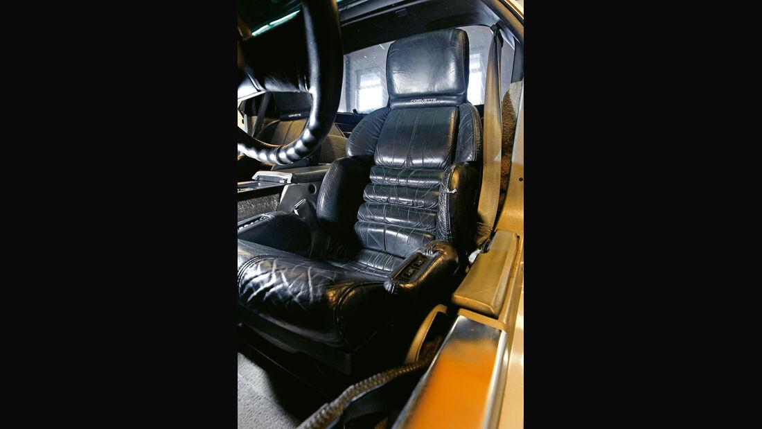 Corvette, Fahrersitz