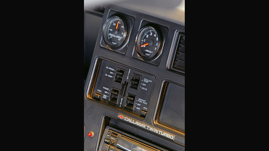 Corvette, Mittelkonsole