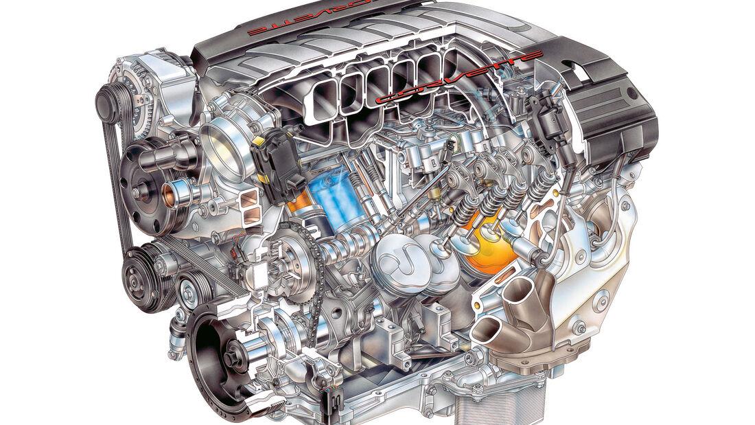 Corvette-Motor, Motor