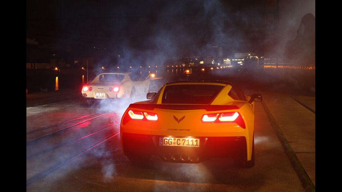 Corvette Stingray Coupé, Heckansicht