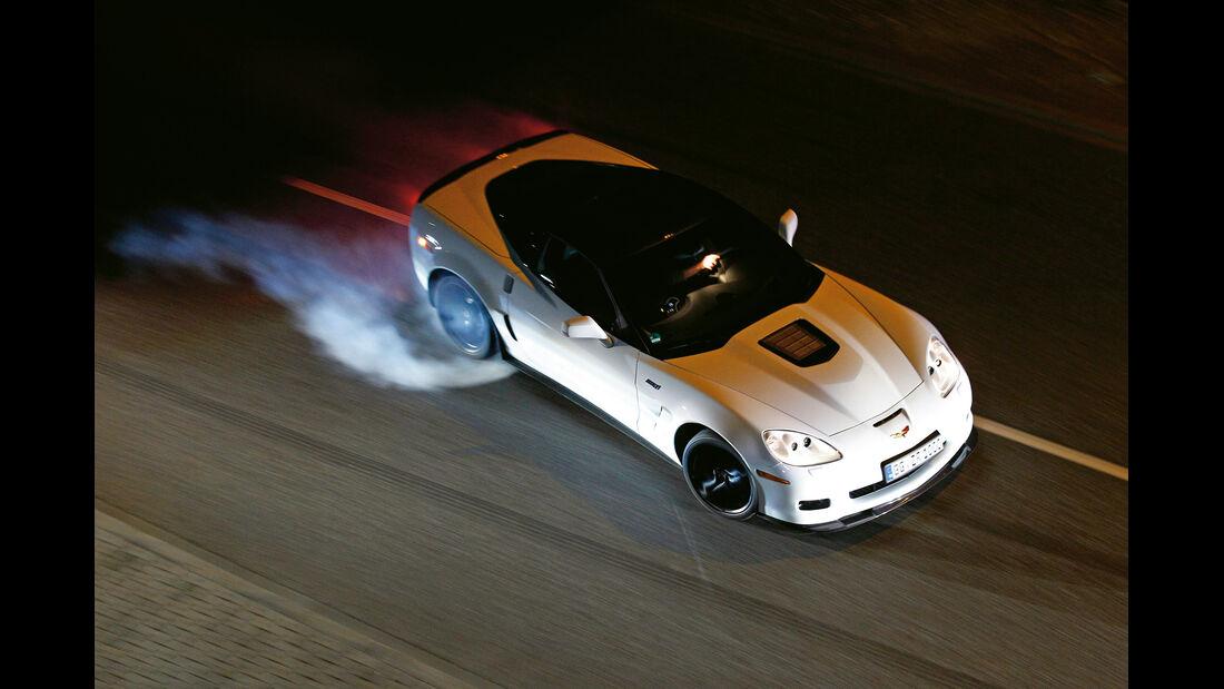 Corvette ZR1, Draufsicht, Bremsmanöver