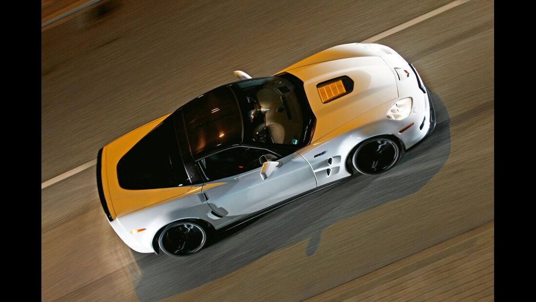Corvette ZR1, Seitenansicht, von oben