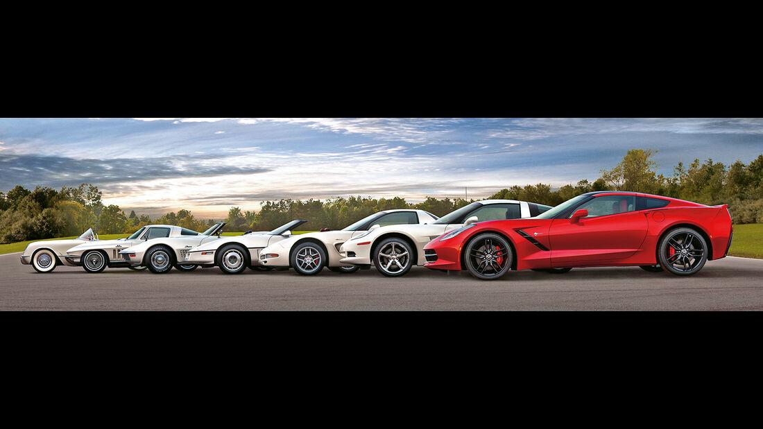 Corvette, verschiedene Modelle