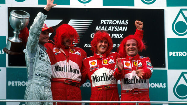 Coulthard - Brawn - Schumacher - Barrichello - GP Malaysia 2000