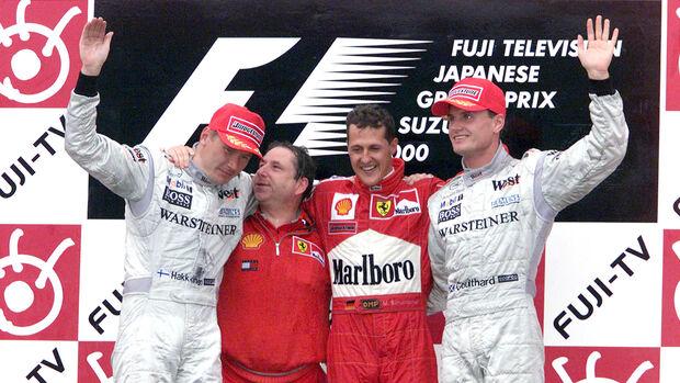 Coulthard, Häkkinen & Schumacher - GP Japan 2000