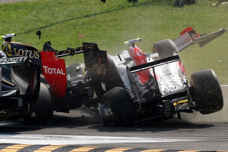 Crash GP Italien Monza 2011
