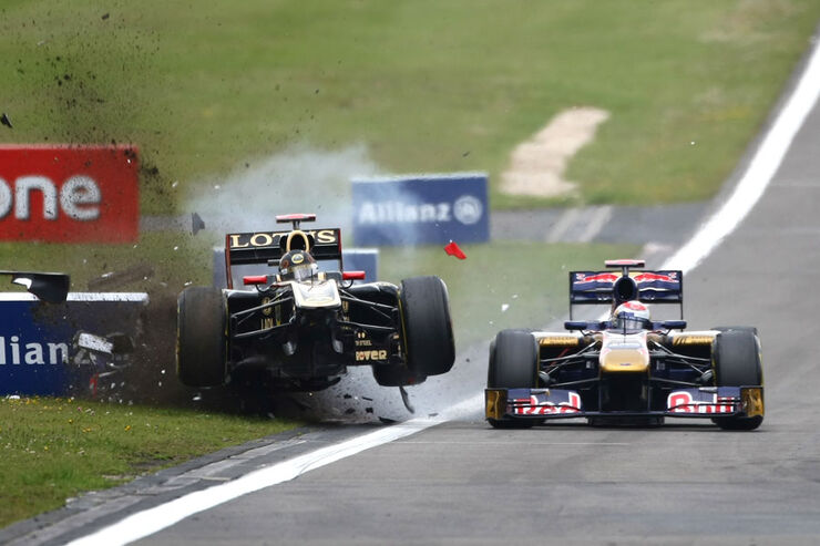 Crash Heidfeld GP Deutschland 2011