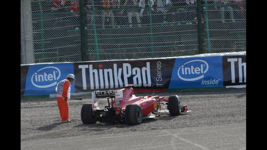 Crash Massa Liuzzi GP Japan