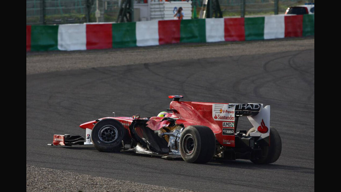 Crash Massa Liuzzi GP Japan