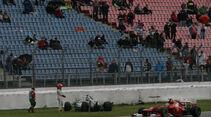 Crash Michael Schumacher - Formel 1 - GP Deutschland - 20. Juli 2012