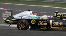 Crash Michael Schumacher Vitaly Petrov - Formel 1 - GP Korea - 16. Oktober 2013