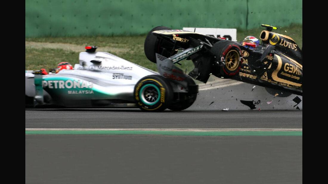 Crash Michael Schumacher Vitaly Petrov - Formel 1 - GP Korea - 16. Oktober 2017