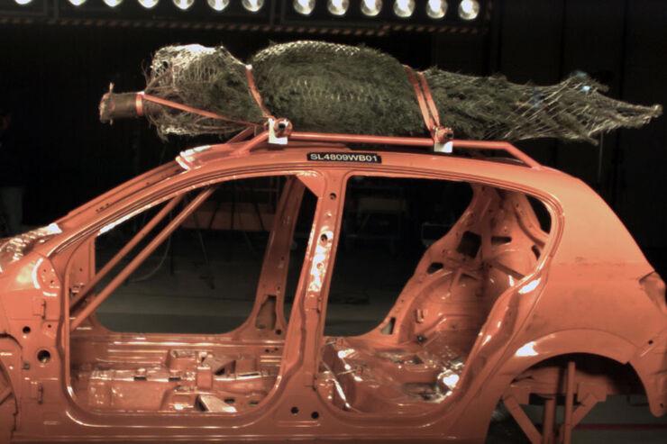 Crashtests Weihnachtsbaum