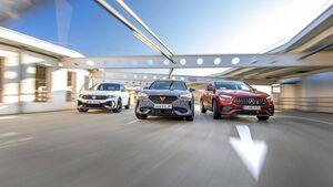 Cupra Formentor VZ 2.0 TSI, Mercedes-AMG GLA 35, VW T-Roc R