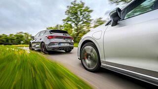 Cupra Leon VZ e-Hybrid, VW Golf GTE