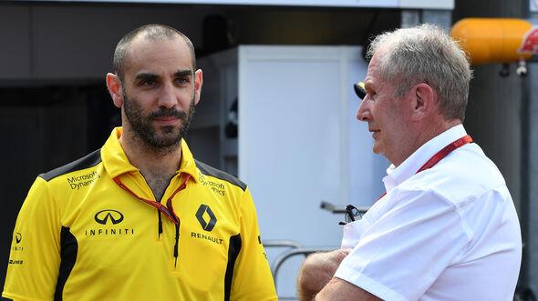 Cyril Abiteboul & Helmut Marko - F1 2017