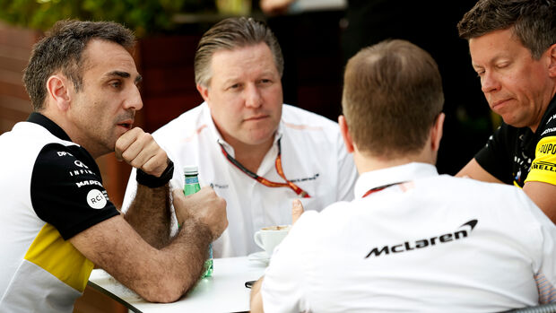 Cyril Abiteboul - Renault - Zak Brown - McLaren - GP Australien 2020