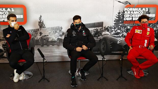 Cyril Abiteboul - Toto Wolff - Mattia Binotto - GP Eifel 2020 - Nürburgring