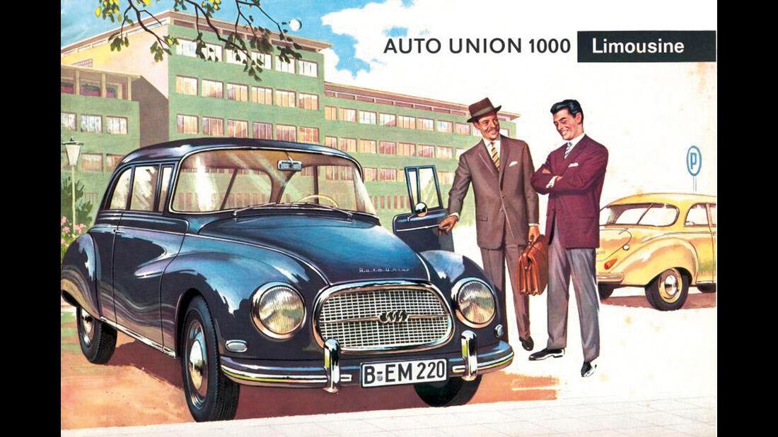 DKW AU 1000 S Coupè De Luxe, Postkarte