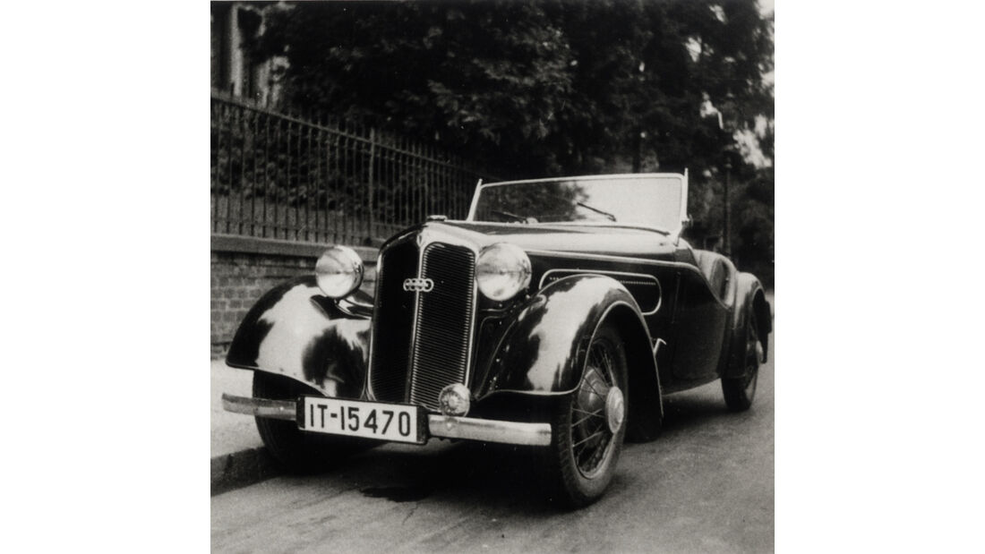 DKW F5 Roadster, Frontansicht