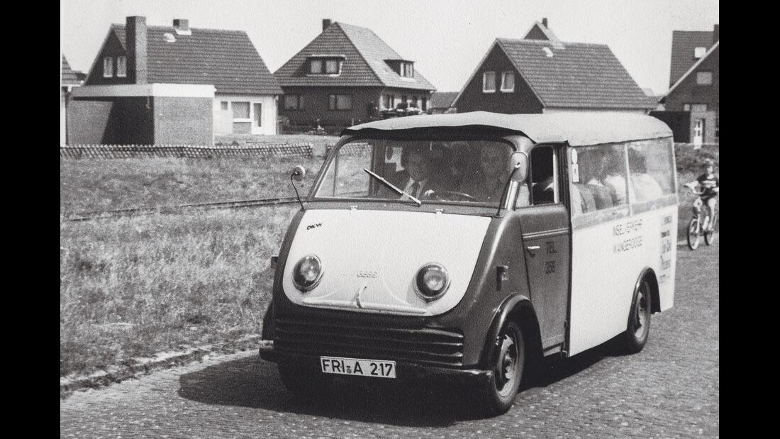 DKW-Schnelllaster, Wangerooge, Impression, Elektroauto