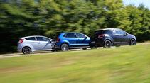 DS 3 THP 208, Ford Fiesta ST200, VW Polo GTI, Seitenansicht