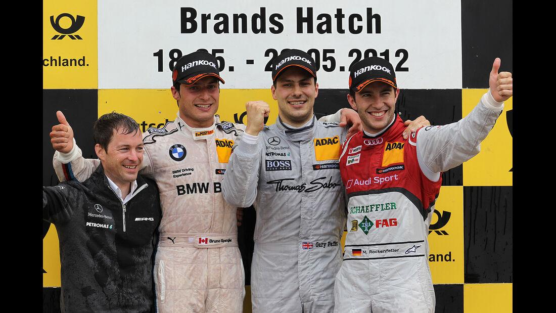 DTM Brands Hatch 2012, Rennen, Mike Rockenfeller, Gary Paffett, Bruno Spengler