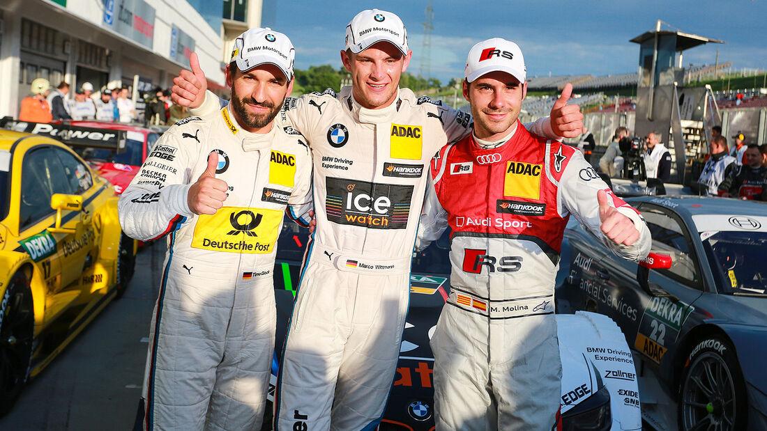 DTM Budapest 2014, Qualifying, Timo Glock, Marco Wittmann, Miguel Molina