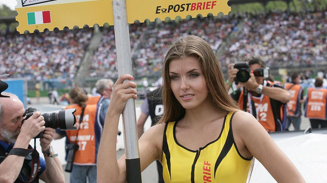 DTM Hockenheimring 2012, Rennen, Edoardo Mortara, Grid Girl